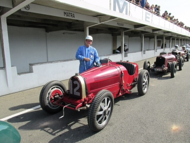 Chris and his T51 at Montlhery